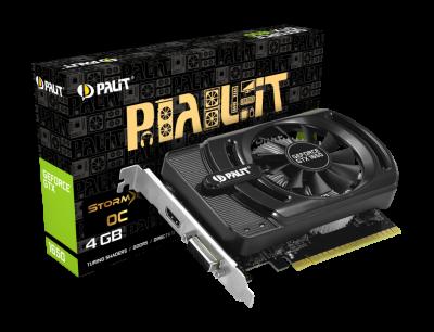 Відеокарта Palit StormX OC GeForce GTX 1650 OC 4Gb DDR5 128-bit DVI/HDMI 1725/8000 MHz (NE51650S06G1-1170F)