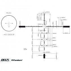 Приціл оптичний Delta DO Titanium 4.5-30x50 MCZ II illum. 30mm