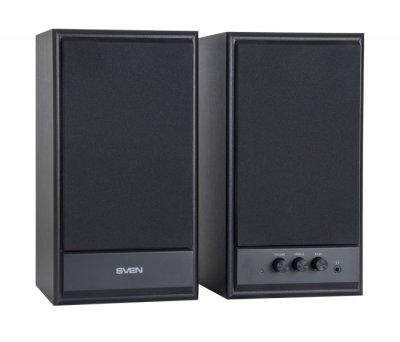 Акустична система ( колонки ) SVEN SPS-702 (black)2x20 Вт, дерев'яний корпус (9183 )