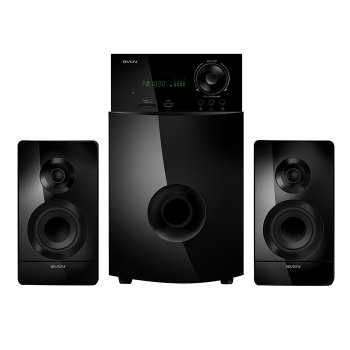 Акустична система ( колонки ) SVEN MS-2100 (black) 2.1 50W Woofer + 2*15W speaker, FM, SD, USB, LED display (11791)