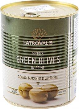 Оливки зелені Latrovalis з кісточками 70/90 900 мл (5204403213400)