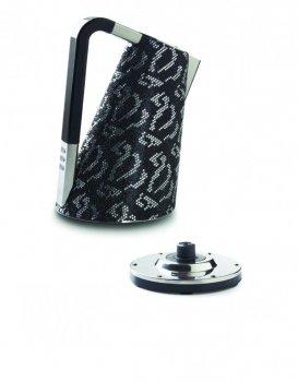 Электрочайник Bugatti Vera Хром инкрустированный черными 8715 кристаллами Swarovski®