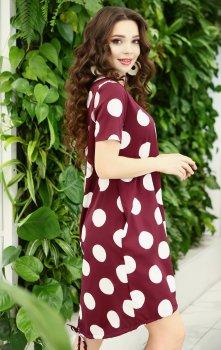 Платье ISSA PLUS 11660 Бордовое