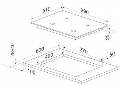 Варочная поверхность электрическая Domino Hansa BHEI301077