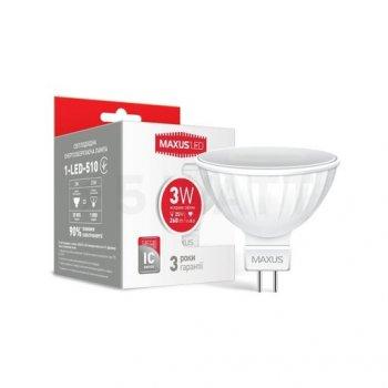 Лампа Maxus LED 3W MR16 4100K 220V GU5.3 (11839814)