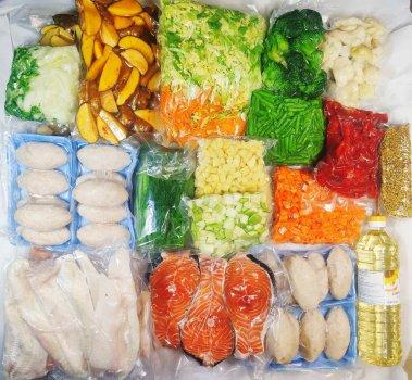 """Набір """"Рибний гурман"""" ( 8 кг овочів +5 кг риби)"""