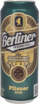 Пиво Berliner Geschichte Pilsner 1237 світле фільтроване 4.8% 0.5 (4015576056821)