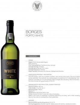 Портвейн Borges Branco Porto білий солодкий 0.75 л 19% (5601129030036)