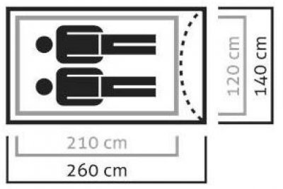 Палатка Salewa Litetrek Pro II 5617 Серый (013.003.0863)