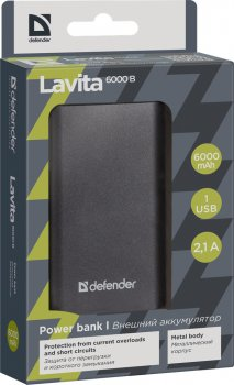 УМБ Defender Lavita 6000 mAh Black (83616)