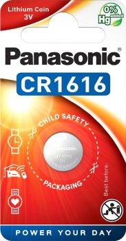 Батарейка Panasonic литиевая CR1616 блистер, 1 шт (CR-1616EL/1B)