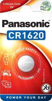 Батарейка Panasonic литиевая CR1620 блистер, 1 шт (CR-1620EL/1B)