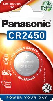 Батарейка Panasonic литиевая CR2450 блистер, 1 шт (CR-2450EL/1B)