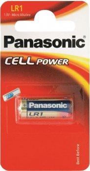 Батарейка Panasonic щелочная LR1 (910А, MN9100) блистер, 1 шт (LR1L/1BE)