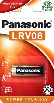 Батарейка Panasonic щелочная LRV08 (A23, MN21, V23) блистер, 1 шт (LRV08L/1BE)