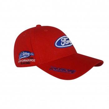 Бейсболка с логотипом авто Ford Sport Line 4824 57-60 цвет красный