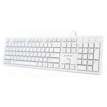 Дротова клавіатура Gembird KB-MCH-03-W-RU USB white Б/У