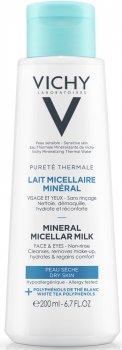 Міцелярне молочко Vichy Purete Thermale для сухої шкіри обличчя й очей 200 мл (3337875675024)
