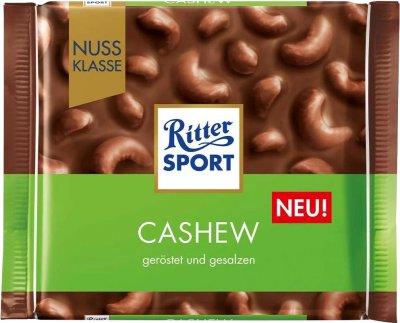 Шоколад Ritter Sport Nut Selection молочный с цельными орехами кешью 100 г (4000417707000)