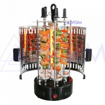 Электрошашлычница Domotec MS-5600 1000 Вт на 6 шампурів