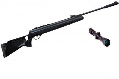 Пневматическая винтовка Hatsan 125 TH с усиленной газовой пружиной прицел 3-9х40 Sniper AR
