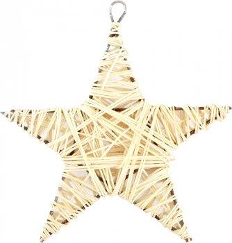 Елочная игрушка Новогодько (YES! Fun) Звезда 15 см Белая (973292) (5056137144273)