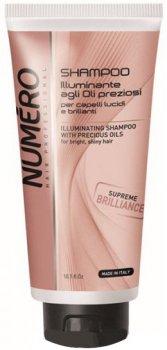 Шампунь Brelil Numero для блеска волос на основе ценных масел 300 мл (8011935071753)