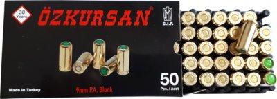 Холостий Патрон Ozkursan кал.9 мм (пістолетний) 50шт