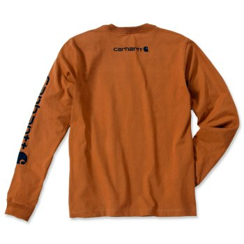 Футболка з довгим рукавом Carhartt Sleeve Logo T-Shirt L/S - EK231 Carhartt Brown