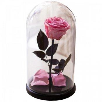 Роза в колбе Trend-mix с LED Большая Розовая №A78 (tdx0001031)