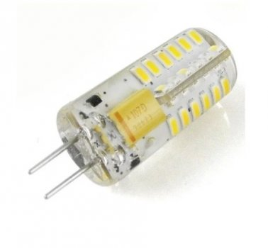 Лампа Lemanso св-ва G4 48LED 2,5 W 200LM 6500K 3014SMD AC/DC12V силікон / LM350
