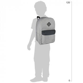 Рюкзак молодіжний Cool For School 43 х 32 х 20 см 28 л Сірий (CF85614-01)