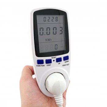Энергометр 220В 16А ABaTap IP20 (hoz0002919) Білий