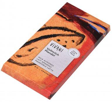 Шоколад Vivani молочный органический с миндалем 100 г (4044889000719)