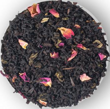 Бленд черного и зеленого чая Lovare Merry Christmas с лепестками розы и ароматом вишни и шелковицы 100 г (4820097818038)