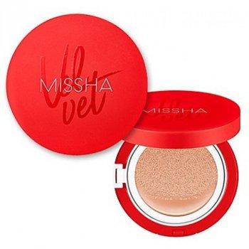 Тональный крем-кушон Missha Velvet Finish Cushion SPF50+/PA+++ светлый беж 21 тон 14 г