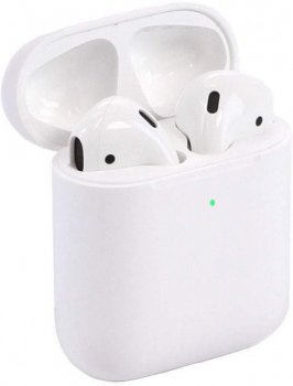 Беспроводные наушники Air (2-е поколение) Foxconn pods White с Беспроводной зарядкой