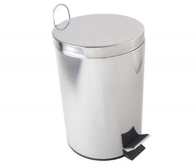 Відро для сміття BISK 12 л, хром (00430)