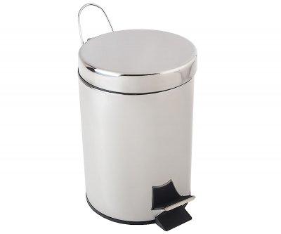 Відро для сміття BISK 5 л, хром (00283)