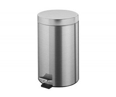 Відро для сміття BISK 12 л, хром (00431)