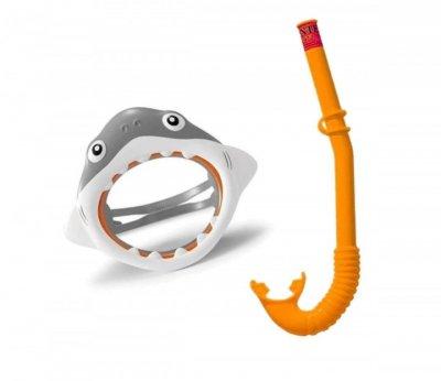 Маска для плавания с трубкой Intex 55944 возраст 3-6 лет набор для дайвинга полнолицевая маска на обхват головы 50 см