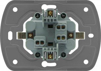 Розетка двойная VIDEX Binera без заземления Черный графит (VF-BNSK2-BG)