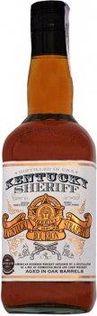 Виски Kentucky Sheriff American Bourbon 4 года выдержки 0.7 л 40% (4006714005252)