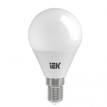 Лампа LED ALFA G45 куля 6Вт 230В 3000К E14 IEK (LLA-G45-6-230-30-E14)