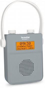 Цифровий радіоприймач TechniSat DIGITRADIO 30 на батарейках з Bluetooth, біло-сірий (0000/3955)