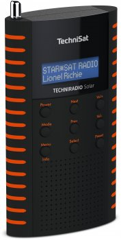Портативний цифровий радіоприймач TechniSat TECHNIRADIO на сонячній батареї Solar Чорно-помаранчевий (0001/3931)