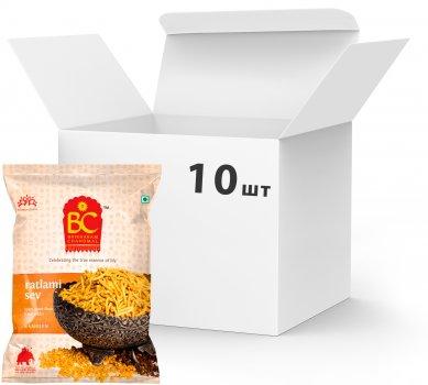 Упаковка нутовой вермішелі Bhikharam Chandmal Bikaner Ratlami Sev 40 г х 10 шт (820294212787)