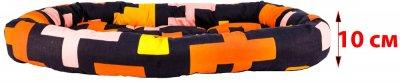 Лежак для кішок і собак Форт Нокс FX home Піксель 80 х 70 х 10 см Жовтогарячо-чорний (2820000013569)