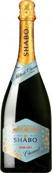 Вино ігристе Shabo напівсухе біле 0.75 л 10.5-13.5% (4820070402650)