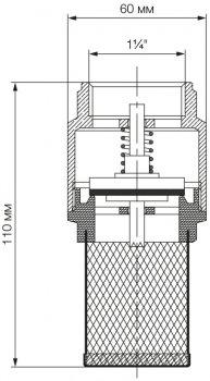 """Зворотний клапан Bonomi з фільтром 1 1/4"""" PN8 (10300010)"""